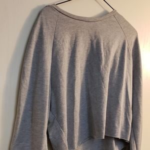Laced sleeve sweat shirt